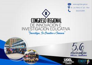 Pasco: Realizan III Congreso Regional de Innovación e Investigación Educativa