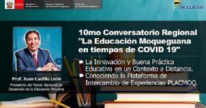 Moquegua: FONDEP participa en evento sobre innovación en la educación a distancia