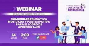 Gestores, docente y estudiante participan mañana en un nuevo webinar del FONDEP