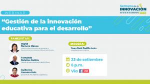 Hoy FONDEP en foro de la Semana de la Innovación del Concytec