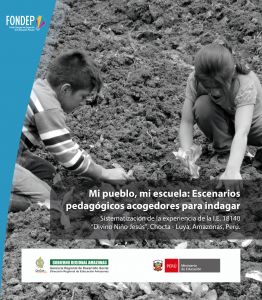 """Mi pueblo, mi escuela: Escenarios pedagógicos acogedores para indagar. Sistematización de la experiencia de la I.E. 18140 """"Divino Niño Jesús"""", Chocta, Luya, Amazonas."""
