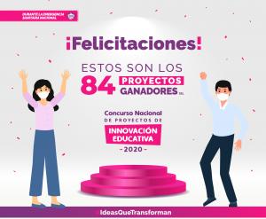 ¡Felicidades docentes! 84 proyectos e iniciativas ganan concurso de innovación educativa