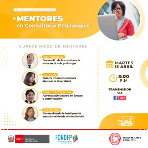 Webinar: Cuatro docentes mentores presentan sus cursos MOOC sobre competencias transversales