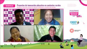 Tres docentes EIB compartieron sus experiencias de innovación en escuelas rurales