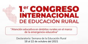 FONDEP participará en el 1er Congreso Internacional de Educación Rural